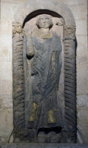 image of a statue of st felix in norwich cathedral
