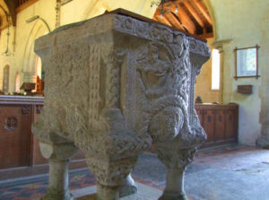 font of shernborne church